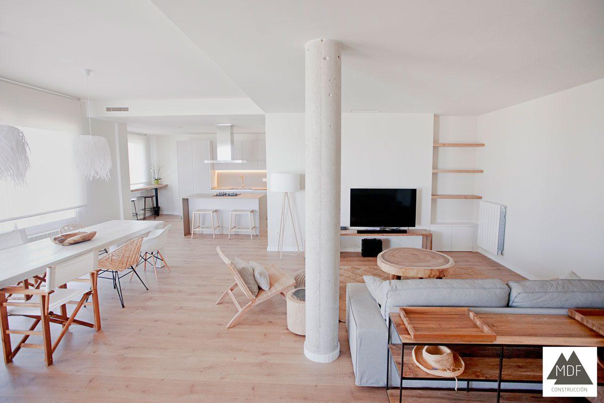 Cocina y salón en un mismo espacio, una apuesta ganadora